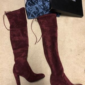 Shoes - Over the Knee Red Boots